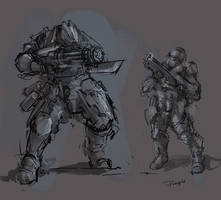 sketches - character design by ProgV