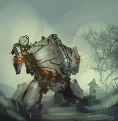 daily mech painting