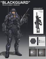 BLACKGUARD combat suit by ProgV