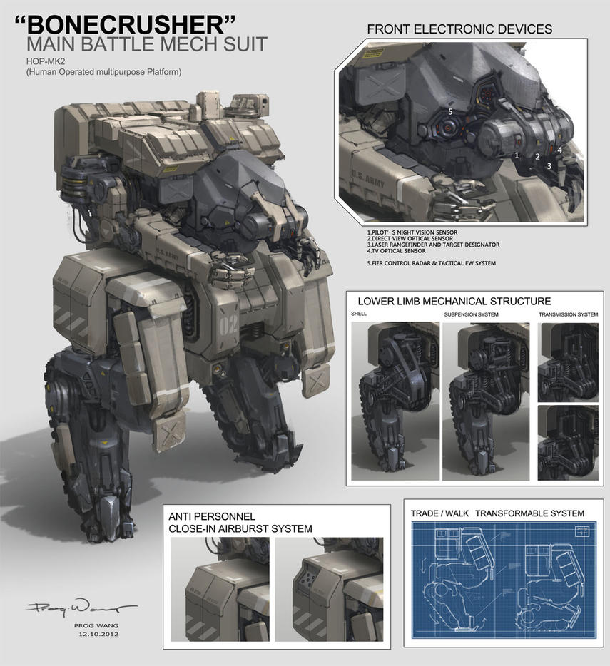 BONECRUSHER Main Battle Mech Suit by ProgV