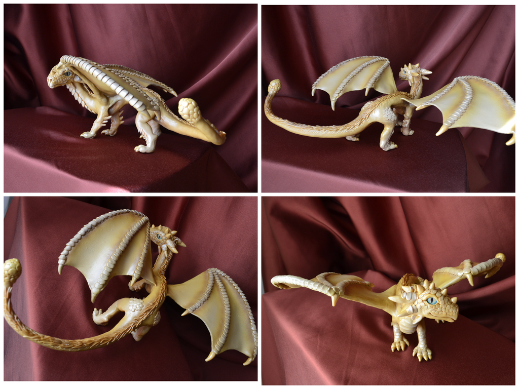 The dragon sculpt by IlonaDi