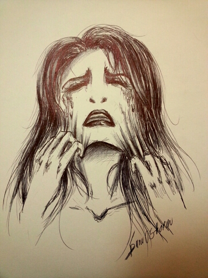 Feelings - Drawing with Pen by snow0storm