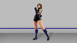 Asuka Kazama in black and blue
