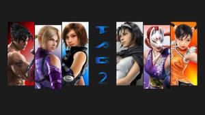Tekken tag 2 wallpaper (centered image)