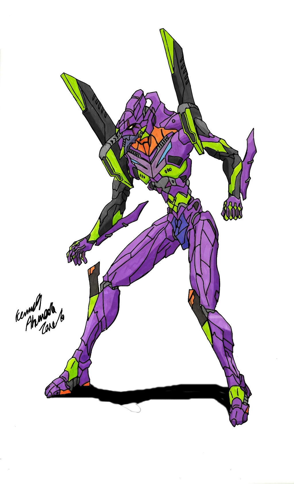 Evangelion Unit-01 by Dino-master