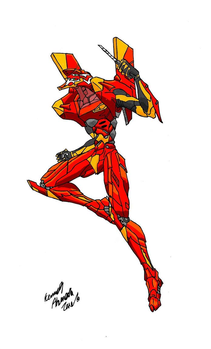 Evangelion Unit-02 by Dino-master
