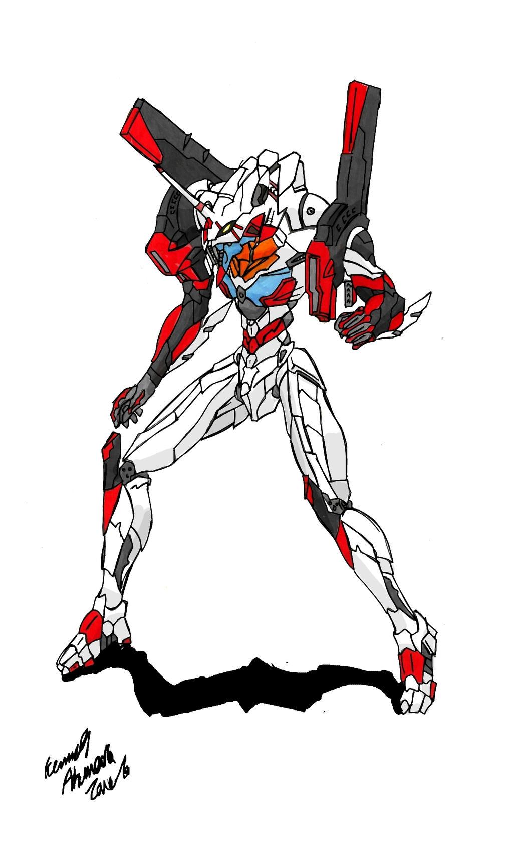 Evangelion Unit-04 by Dino-master