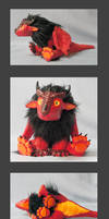 Baby red dragon doll