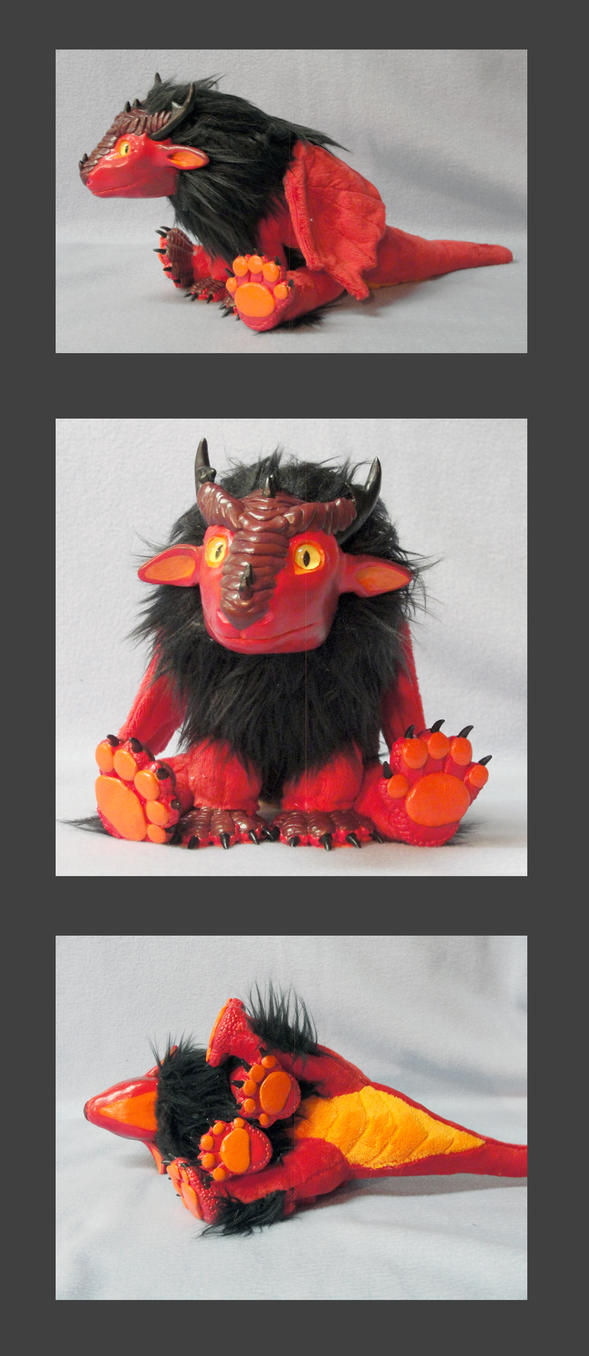 Baby red dragon doll by LeoEyes