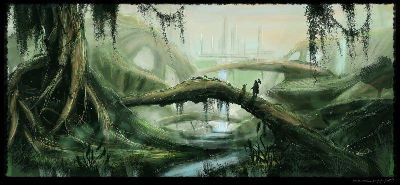 Fantasy Landscape By Maks D3i3ygz
