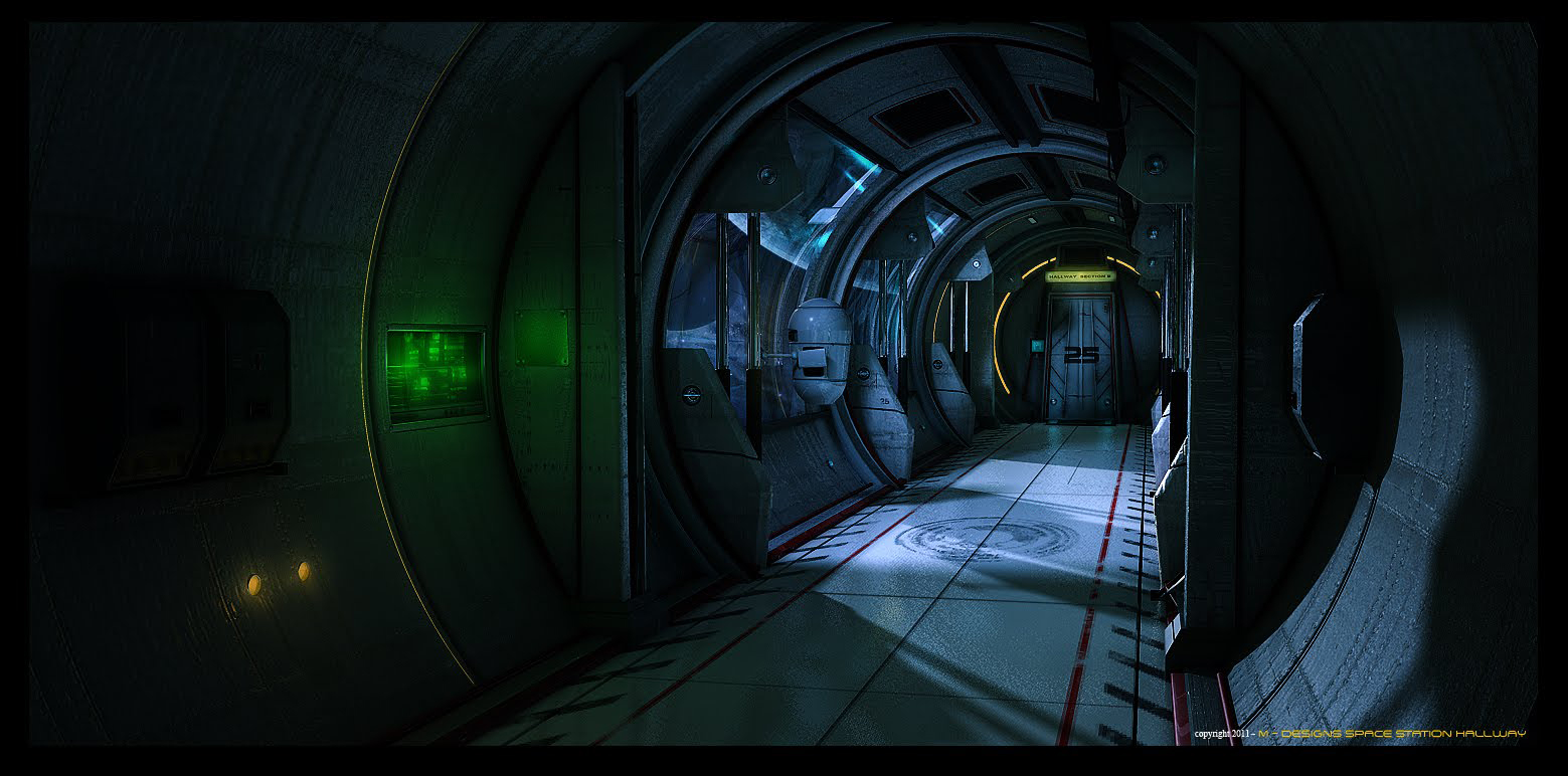 Space Station Hallway By Maks 23 On Deviantart