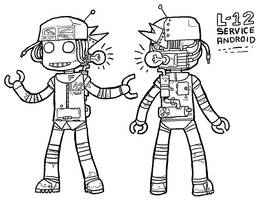 girl-type robot by reiley