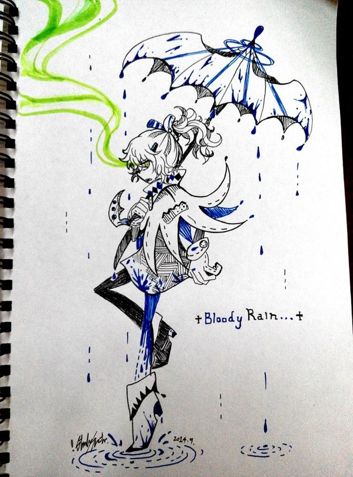 +Bloody Rain...+ - The Blue Blood by Lilu-Leloo