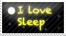 i love sleep stamp by ohhperttylights