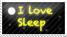 i love sleep stamp by ohhperttylights