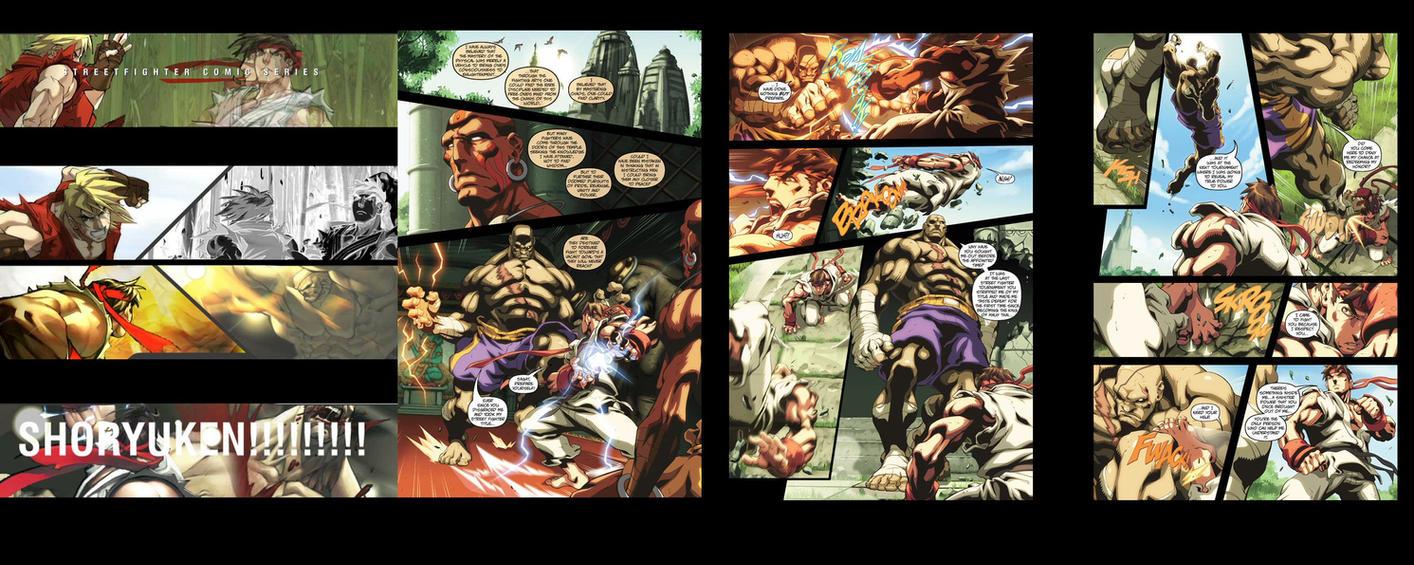 Street fighter - Ryu Vs Sagat by amanjets