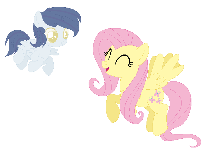 Fluttershy and her son by puddycat431