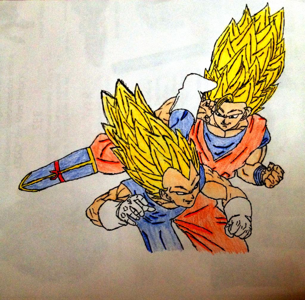 SSJ3 Goku vs SSJ3 Vegeta by ThatoneDBZkid26 on DeviantArt