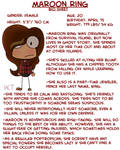 Maroon Ring's Bio Sheet