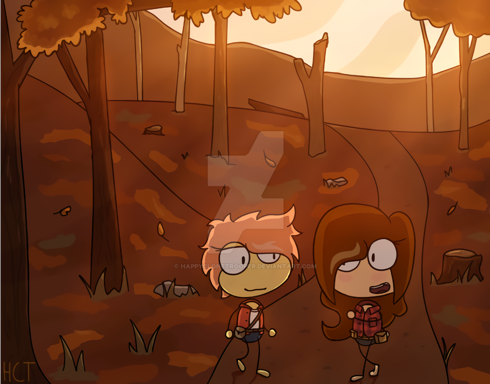 Fall Forest by happyclonetrooper
