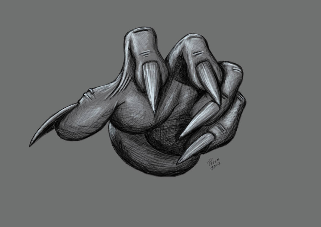 Hand Sketch by Ptero-Pterodactylus