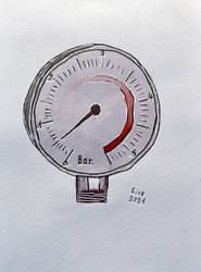 inktober2021-09 Pressure (Junior) by Ptero-Pterodactylus
