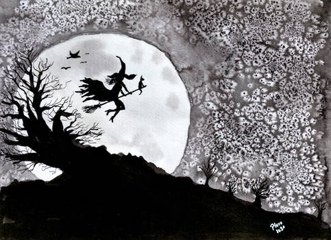 inktober2021-18 Moon
