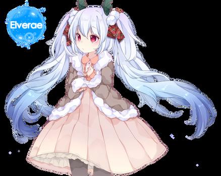 Hatsune Miku snow render