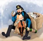 Adventure of tintin-Haddock/Tintin/Snowy