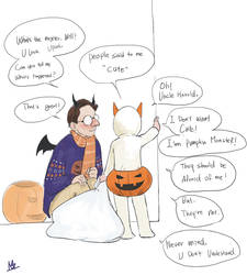 Person of Interest-Will and Harold-Halloween by monster3x