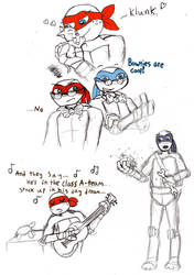 TMNT sketches by Mollykittykat