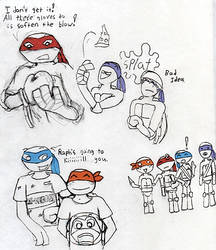 tmnt sketches 2 by Mollykittykat