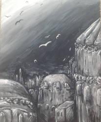 Blackbirds by Mollykittykat