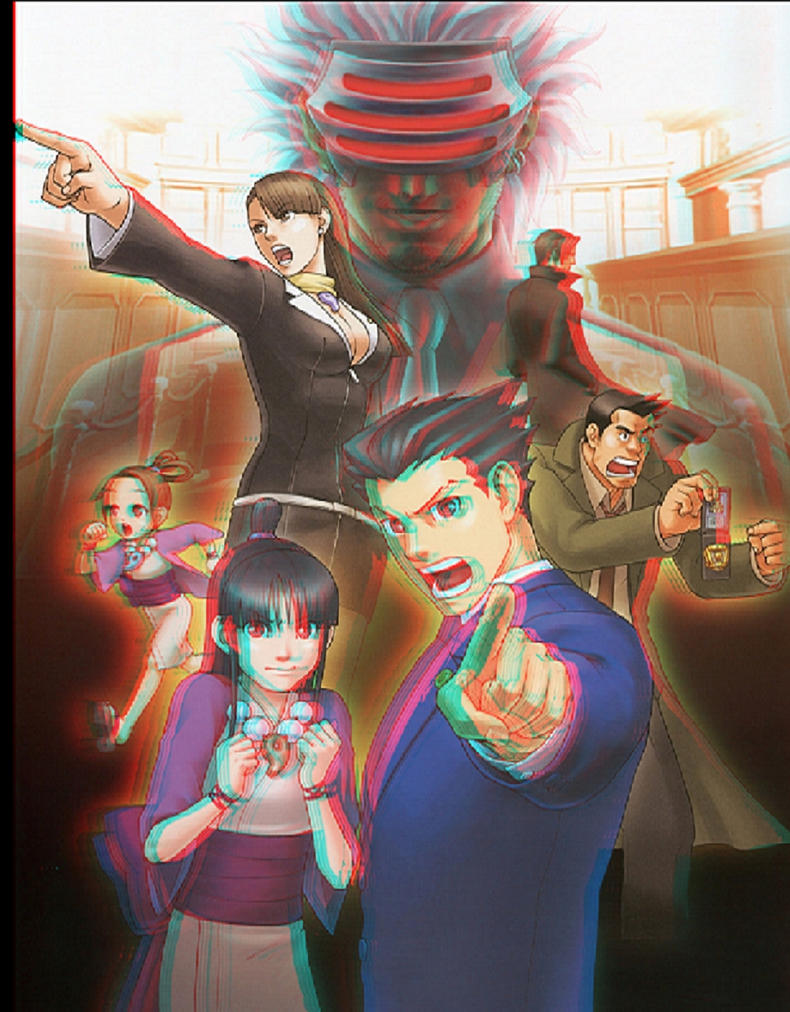 Ace Attorney 3D anaglyph by xmancyclops