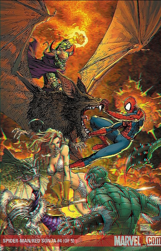 spider_man_red_sonja_3d_anaglyph_by_xmancyclops-d4trvn0 dans 3D