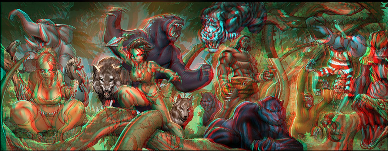 Jungle Book in 3D Anaglyph by xmancyclops