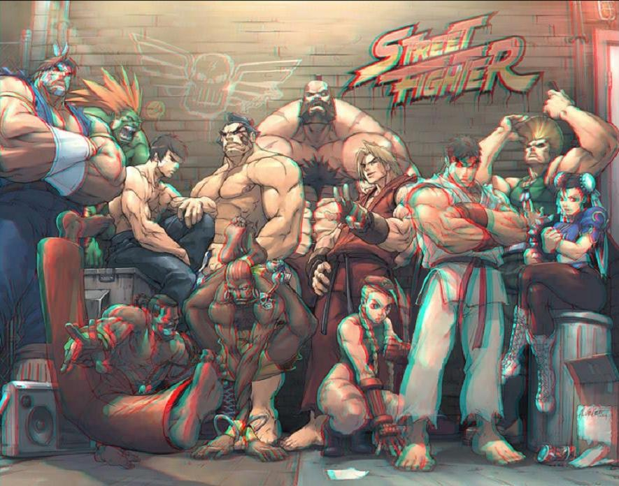 street_fighter_25th_anniversary_3d_anaglyph_by_xmancyclops-d53yaas dans autres