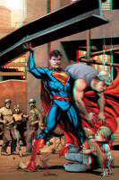 Superman in 3D Anaglyph by xmancyclops