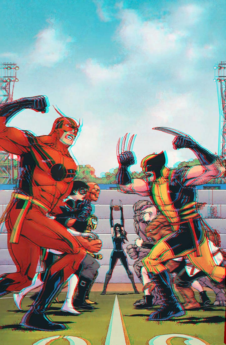 Avengers Academy 3D Anaglyph by xmancyclops