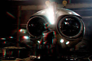 Nite Owl / Watchmen in 3D Anaglyph by xmancyclops
