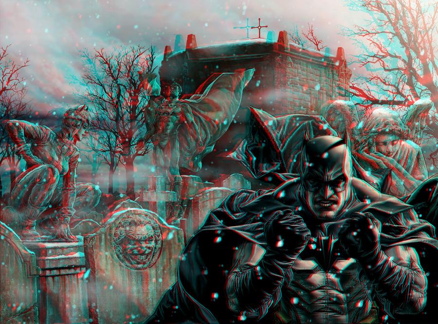 Batman Noel 3D Anaglyph by xmancyclops