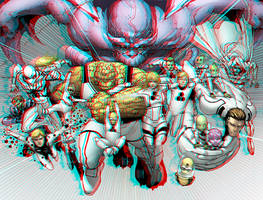 Future Fundation in 3D Anaglyph 2 by xmancyclops