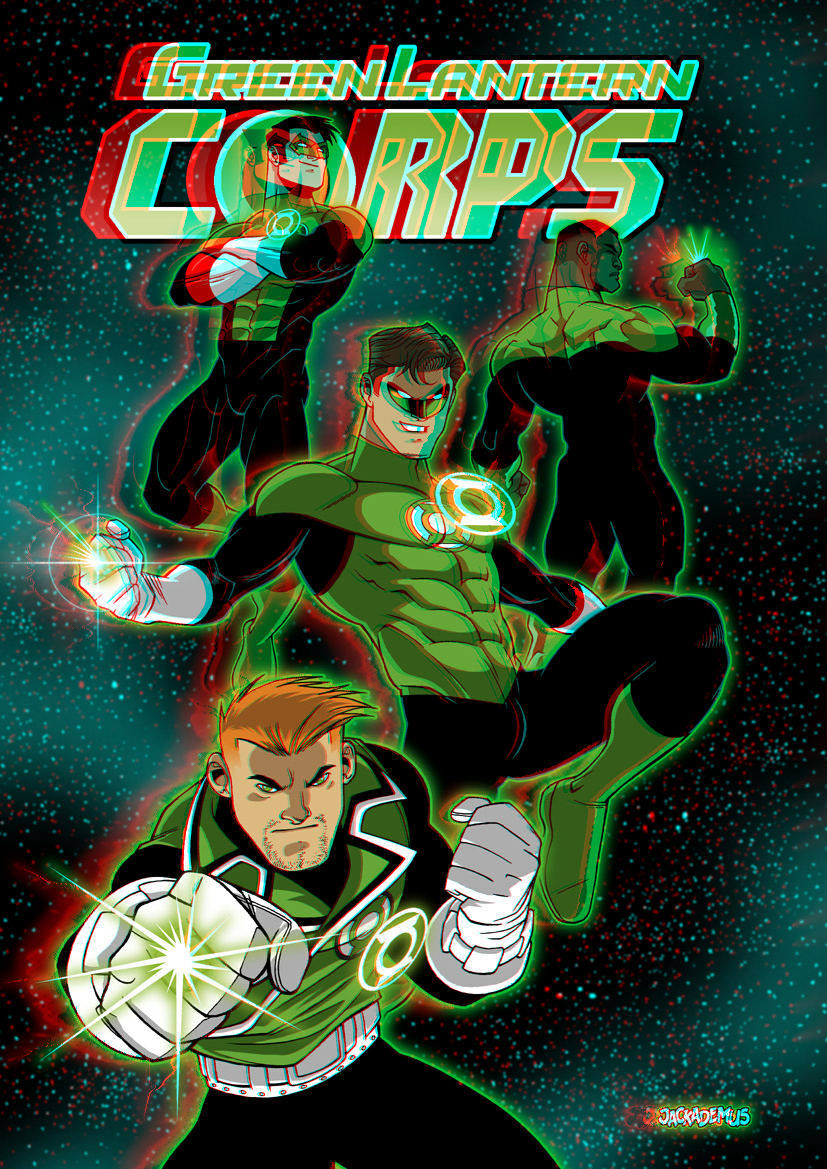 Green Lantern Corps by Jack Lawrence in 3D by xmancyclops