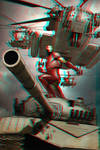 Iron Man in 3D Anaglyph 2