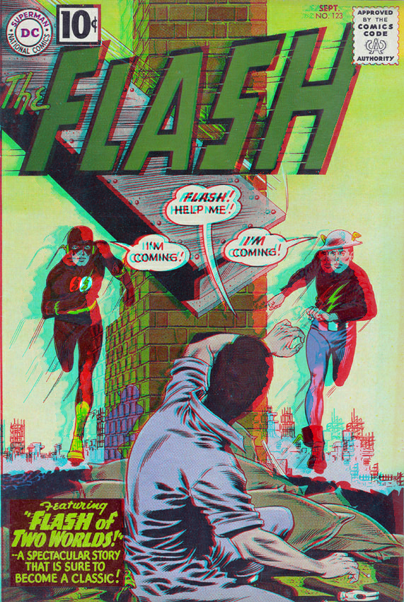 Flash of Two Worlds in 3D Anaglyph by xmancyclops
