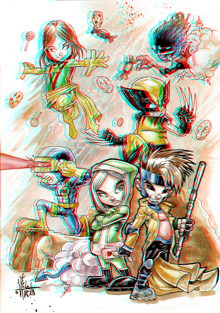 x_babies_in_3d_anaglyph_by_xmancyclops-d6c8yrs dans 3D