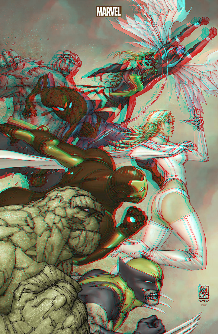 x_men_and_the_marvel_heroes_in_3d_anaglyph_by_xmancyclops-d73u6my dans 3D