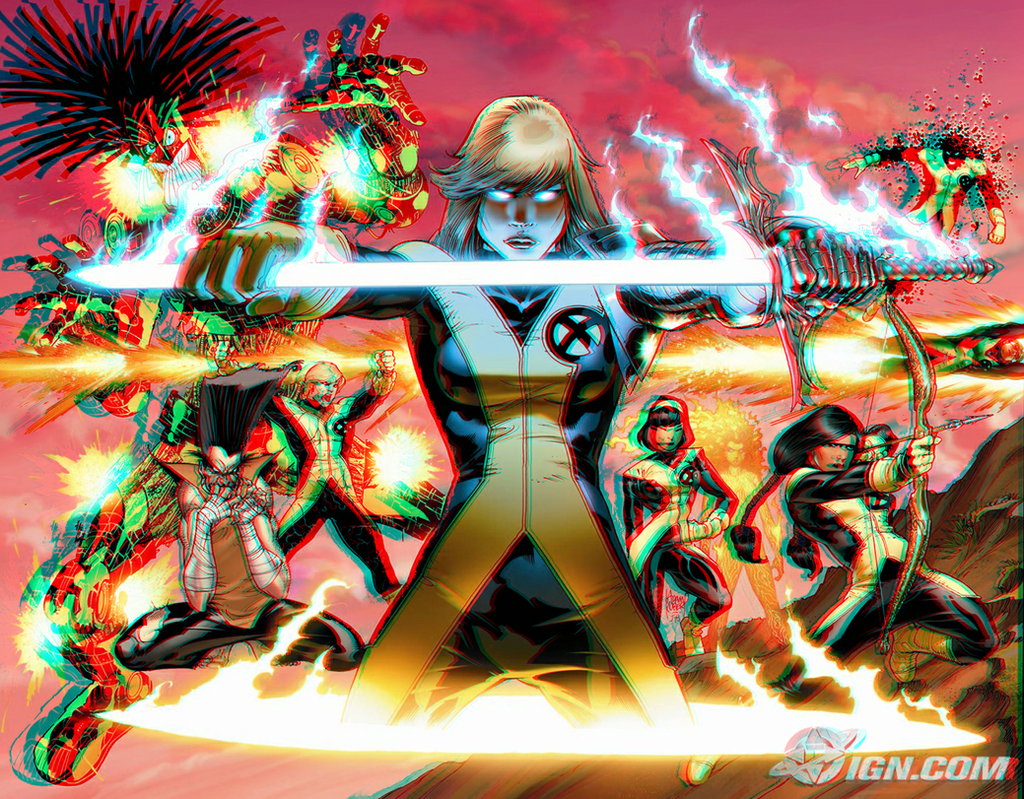 New Mutants in 3d Anaglyph by xmancyclops