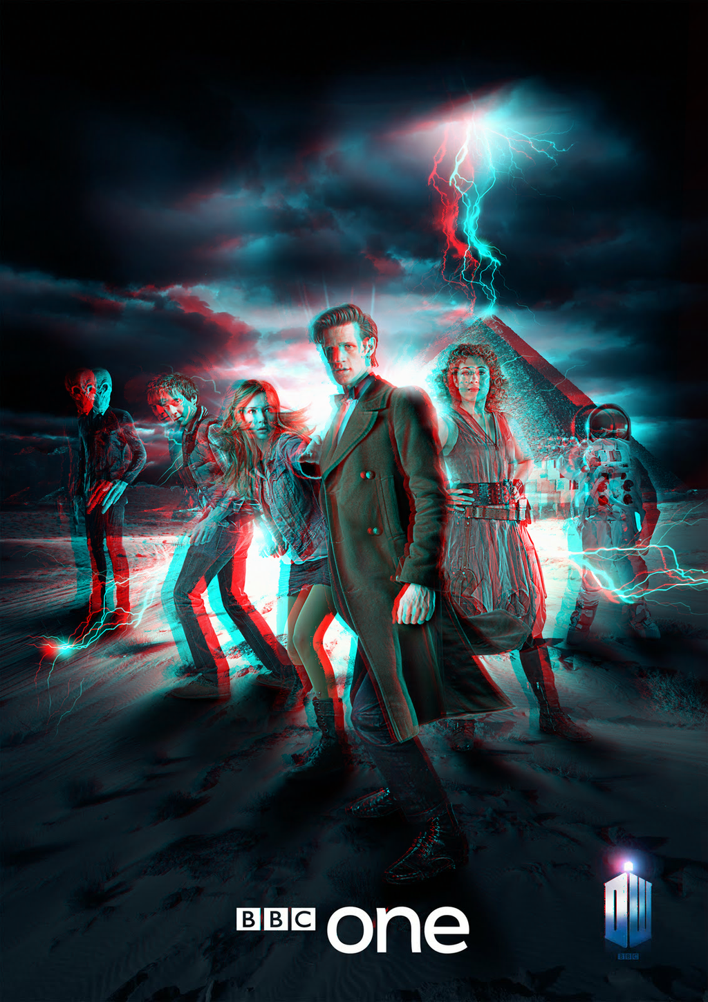 Doctor Who in 3D Anaglyph by xmancyclops