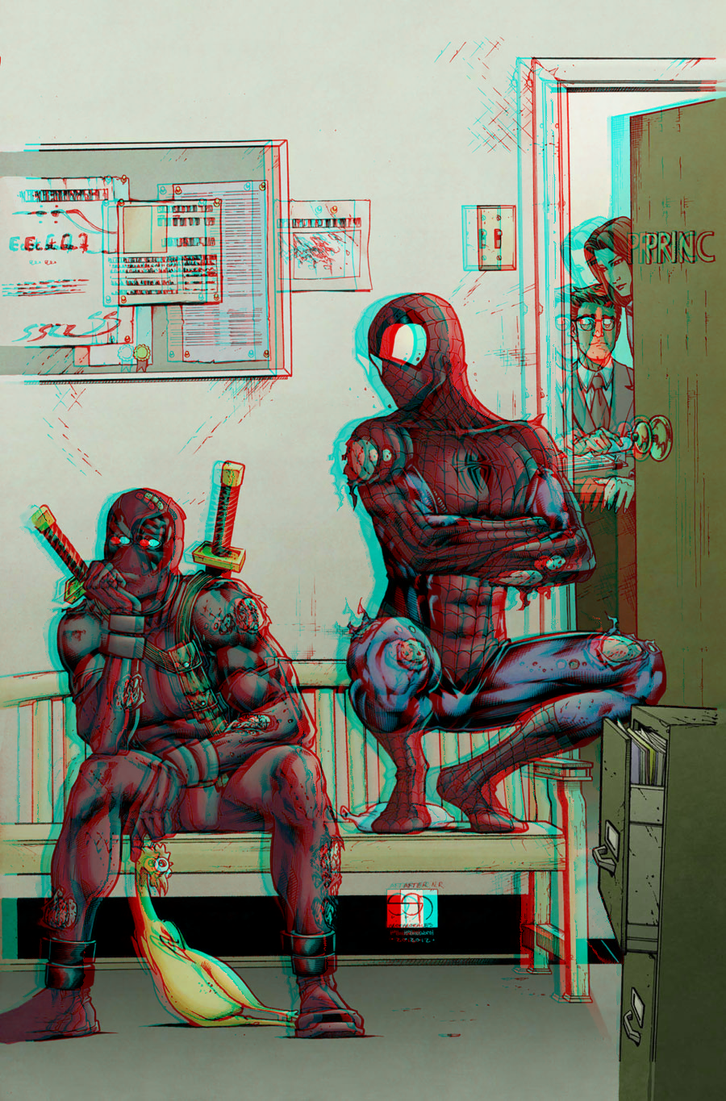 spider_man_and_deadpool_in_3d_anaglyph_by_xmancyclops-d7h3l6m